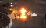 Батько витягнув сина з палаючого автомобіля під час гонки NASCAR